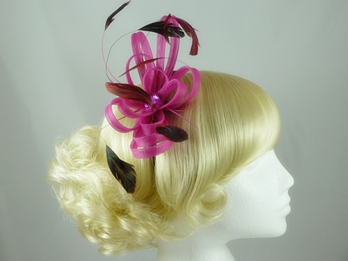 Aurora Collection Fascinator with Loops and Gem