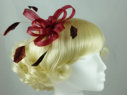 Wedding Hats 4U - Aurora Collection Fascinator with Loops and ... 6b3a31a2201