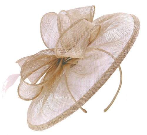 Failsworth Millinery Sinamay Disc Headpiece in Lupin
