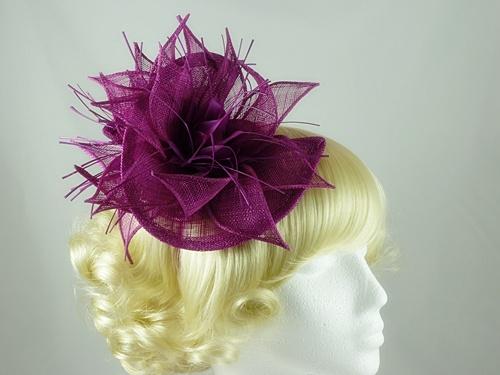 Wedding Hats 4U - Crescent Fascinator in Magenta d0aa5787f44