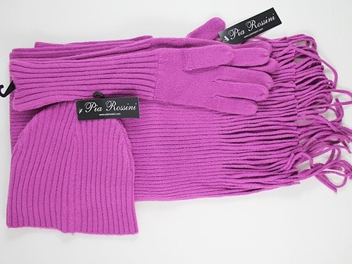 Pia Rossini Winter Hat with Matching Scarf and Gloves