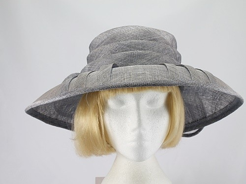 Marions Hats Grey Wedding Hat