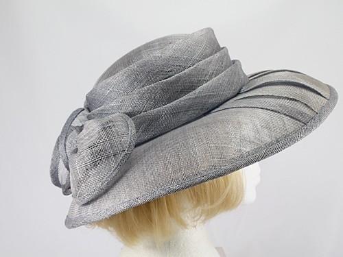 Marions Hats Grey Wedding Hat