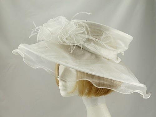 Marks and Spencer Cream Collapsible Wedding Hat