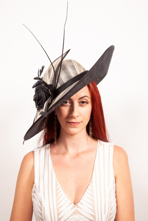 Matthew Eluwande Millinery Juliet in Black and Natural