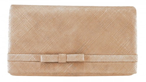 Max and Ellie Large Occasion Bag in Metallic Nude