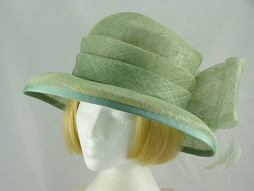 Mid Green Wedding hat