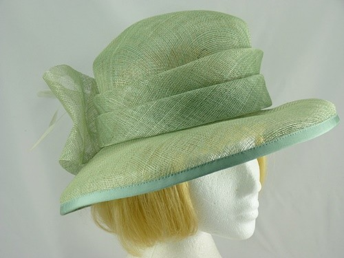 Mid Green Wedding hat