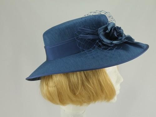 Mid Grey Blue Formal Hat