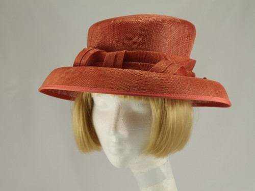 Mid Orange Wedding Hat
