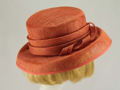 Mid Orange Wedding Hat
