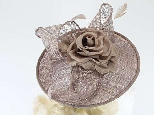Failsworth Millinery Silk Rose Disc Headpiece