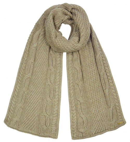 Alice Hannah Alexa Ribbed Knitted Scarf in Mink