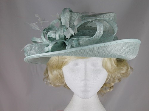 Wedding Hats 4U - Hawkins Collection Upbrim Occasion Hat in Mint ... 2f58fd9d432