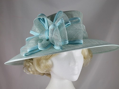 Wedding Hats 4U - Hawkins Collection Wide Loops Wedding Hat in Mint ... 85912b871d5