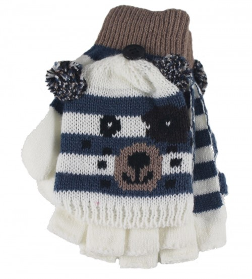d53e89f0e05 Jiglz-Knitted-Novelty-Kids-Ski-Hat-and-Gloves thumbnail