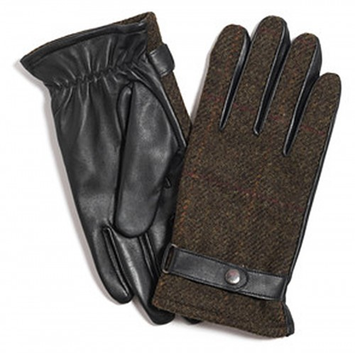 Failsworth Millinery Harris Tweed Gloves in Mocha