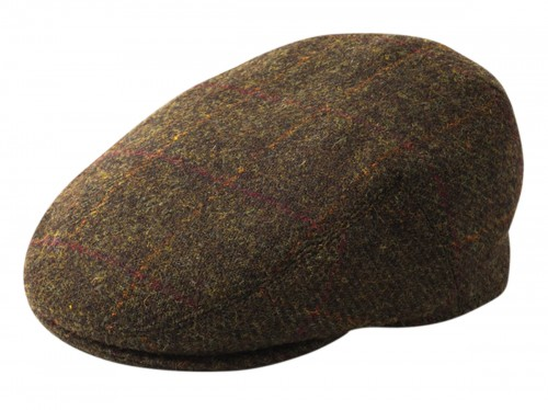 Failsworth Millinery Stornoway Flat Cap in Mocha