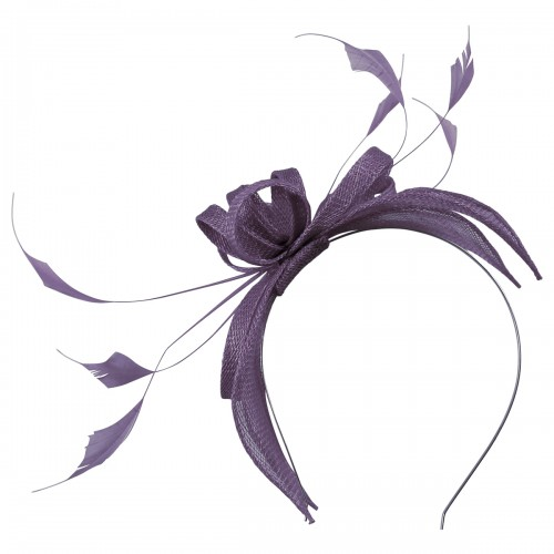 Failsworth Millinery Sinamay Fascinator in Morado