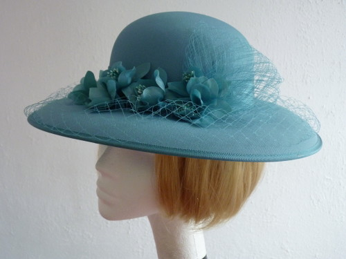 Eastex Wedding Hat Turquoise In
