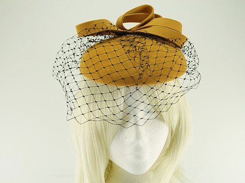 Failsworth Millinery Veiled Wool Pillbox