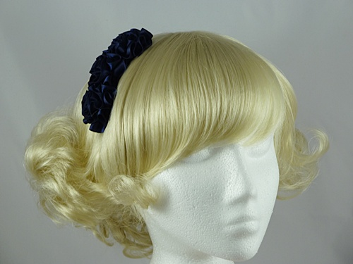 Wedding Hats 4U - Navy Ruffle Fascinator e163b6e6661