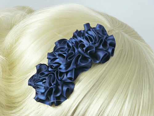 Wedding Hats 4U - Navy Ruffle Fascinator e163b6e6661