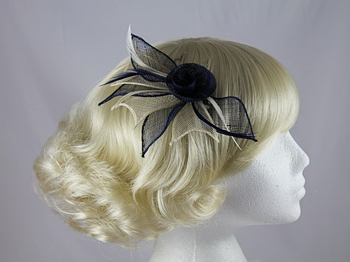 Aurora Collection Two Tone Rose Fascinator  8d5764168f7