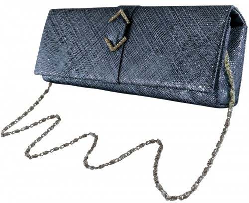 Failsworth Millinery Sinamay Occasion Bag in Navy-Silver