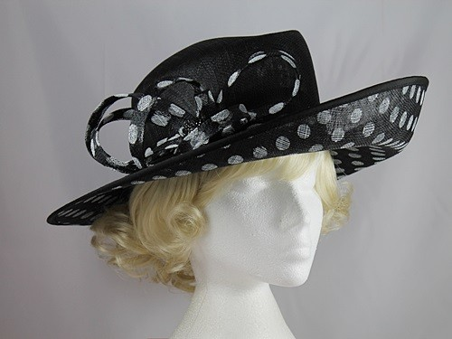 Failsworth Millinery Polka Dot Events Hat