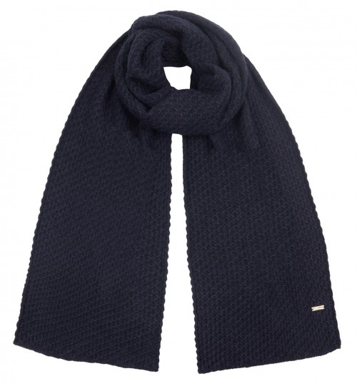 Alice Hannah Knitted Scarf in Navy