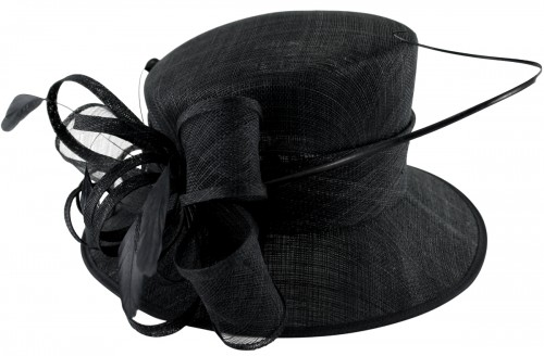 Elegance Collection Quill and Loops Wedding Hat