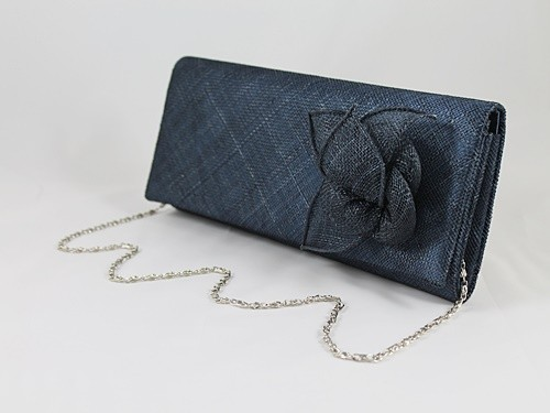 Elegance Collection Sinamay Occasion Bag in Navy