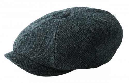 Failsworth Millinery Carloway Flat Cap in Navy