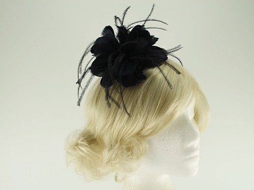 Failsworth Millinery Feather Fascinator with Matching Silk Occasion Bag