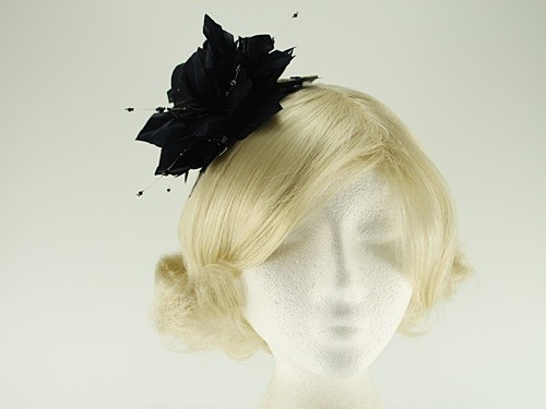 Failsworth Millinery Feather and Beads Fascinator