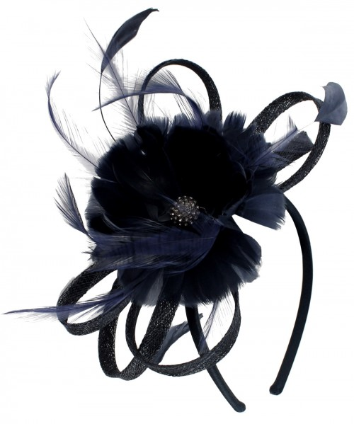 Failsworth Millinery Flower Fascinator in Navy
