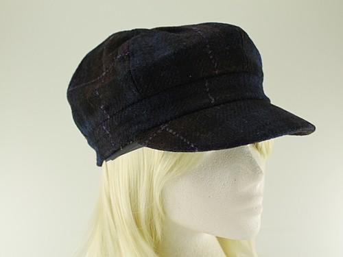 1124229771c Failsworth Millinery Harris Tweed Bakerboy Cap