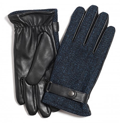 Failsworth Millinery Harris Tweed Gloves in Navy
