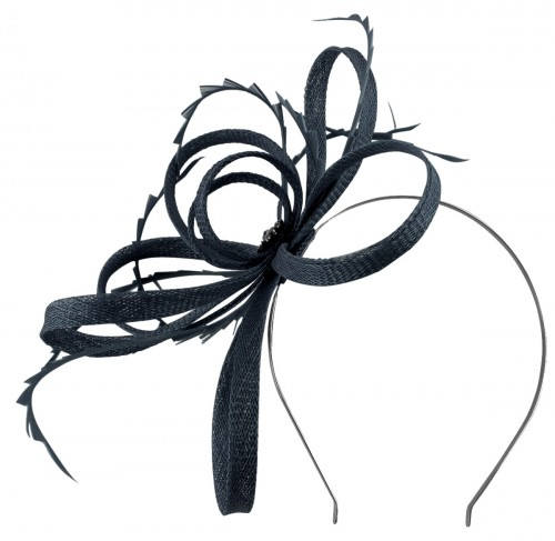 Failsworth Millinery Sinamay Loops Fascinator in Navy