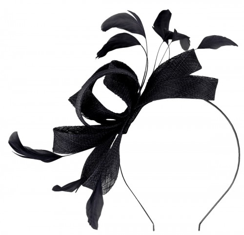 Failsworth Millinery Wide Loops Fascinator in Navy
