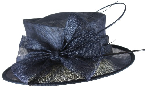 Wedding Hats 4U - Hawkins Collection Quills Occasion Hat in Navy - WH240 59d0c722402