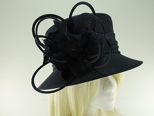 J Bees Millinery Shantung Occasion Hat