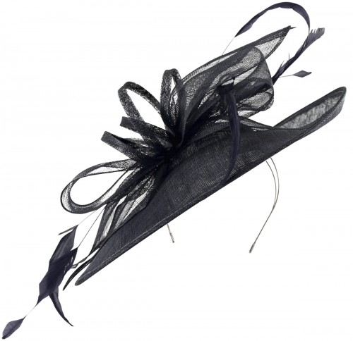 Max and Ellie Ascot Disc Headpiece in Navy
