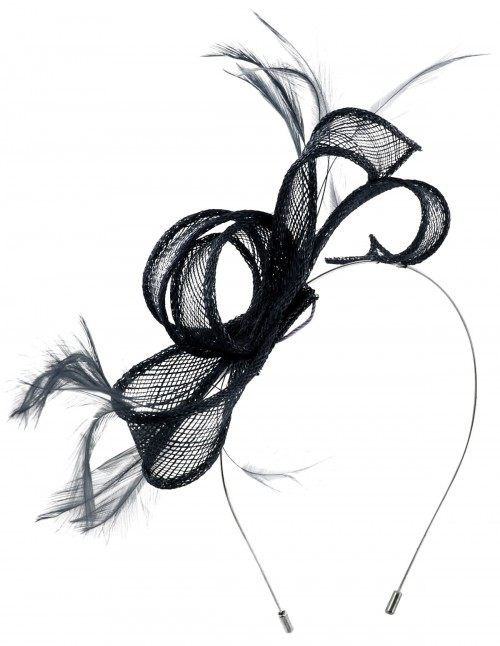 Max and Ellie Sinamay Fascinator in Navy