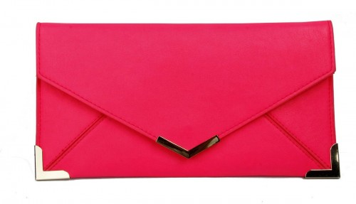 Papaya Fashion Faux Leather Envelope Bag