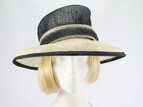 Next Black and Cream Formal Hat