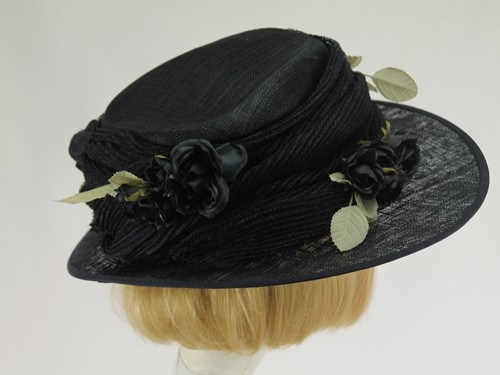 Nigel Rayment Blue Black Formal Hat