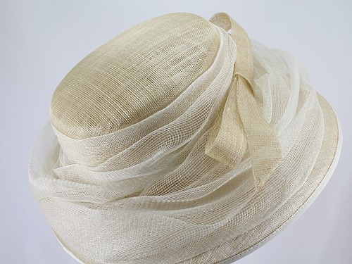 Nigel Rayment Pale Corn and White Events Hat