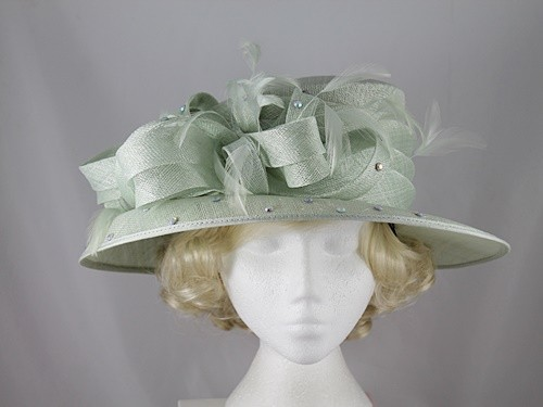 Nigel Rayment Pale Green Wedding Hat